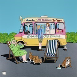 Ice Cream Van and Queen by Dylan Izaak -  sized 25x25 inches. Available from Whitewall Galleries